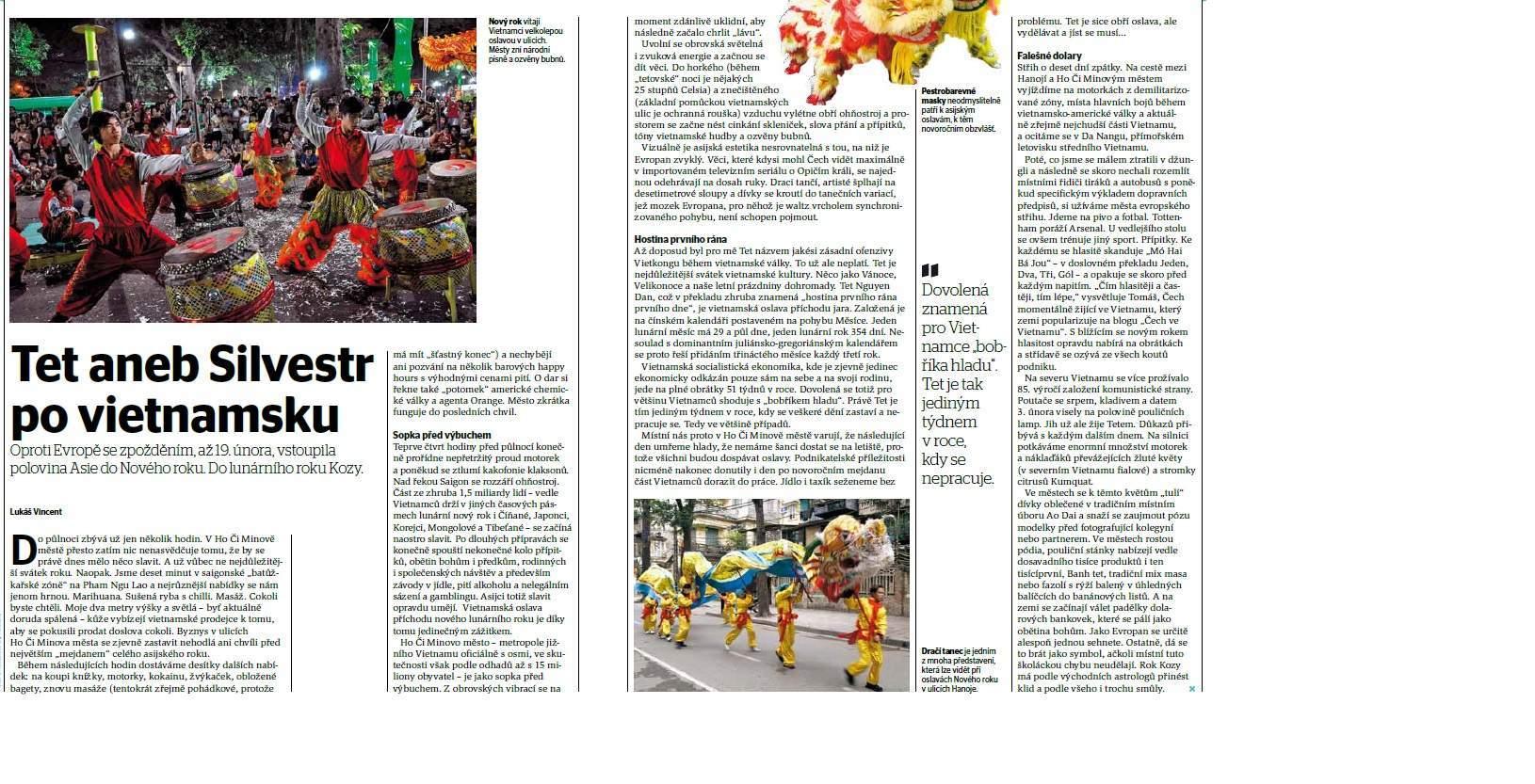 Tet – Vietnamsky Silvestr